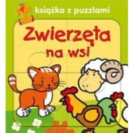 Zwierzęta na wsi. Książka z puzzlami
