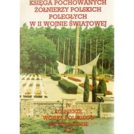 Księga pochowanych żołnierzy polskich poległych w II wojnie światowej, tom IV