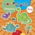 Kolorowanki z naklejkami. Dinozaury