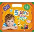 5-latek uczy się, koloruje i nakleja. Edukacyjna teczka dla 5-latka