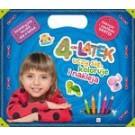 4-latek uczy się, koloruje i nakleja. Edukacyjna teczka dla 4-latka