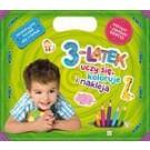 3-latek uczy się, koloruje i nakleja. Edukacyjna teczka dla 3-latka