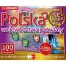 Atlas + Puzzle 100 Polska Województwa i powiaty